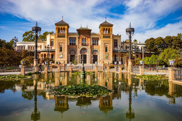 Plaza America and Museum of Popular Arts and Traditions of Sevilla Fotomurales