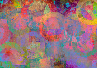 Abstract creative wallpaper with colors art
