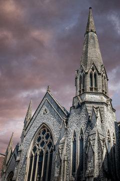 Dramatic Church Spire
