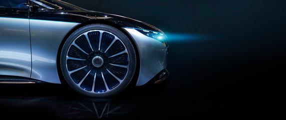 Mercedes Benz Vision luxury electric concept car