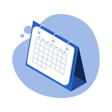 Calendar isometric vector illustration