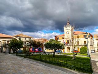 Plaza Mayor y Ayuntamiento de Carbonero el Mayor, (Segovia) Spain