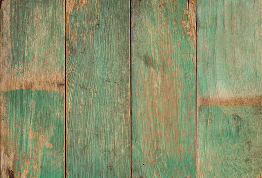 Wood plank painted weathered damaged texture background