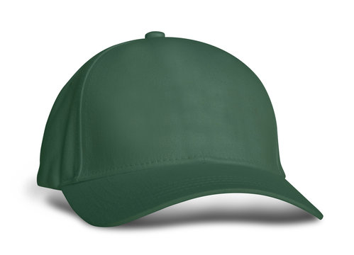 Promote your hat brand across with this Side View Amazing Baseball Cap Mock Up In Green Eden Color.