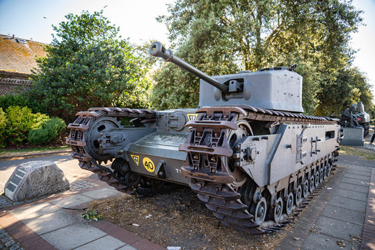 The Churchill tank in Portsmouth in England UK