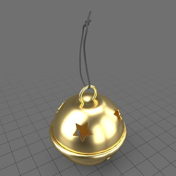 Jingle bell ornament with stars