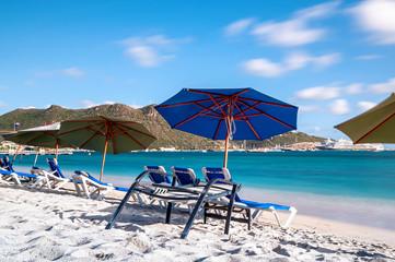 Simpson Bay and Great Bay - Philipsburg Sint Maarten ( Saint Martin ) - Caribbean tropical island.