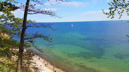 Klif Orłowo Gdynia widok, Morze Bałtyckie