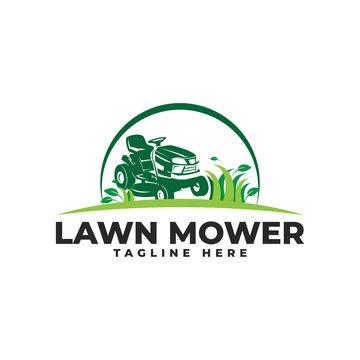 Lawn Mower Logo Vector Icon Illustration