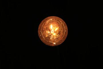 lamp seen below view