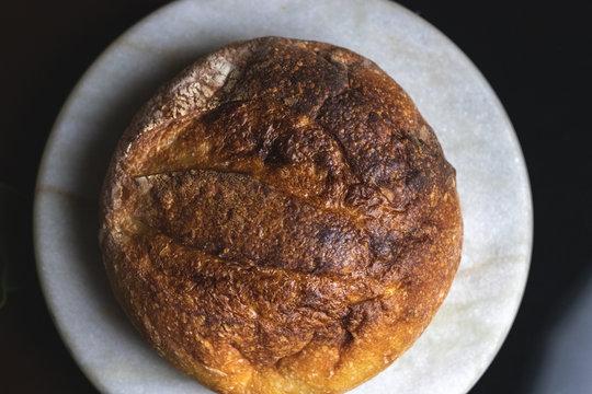 Sourdough bread boule