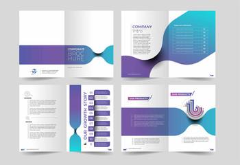 Tri-fold brochure design elemenr, vector illustartion - Use for modern design, cover, poster, template, brochure, decorated, flyer, banner. Wall mural