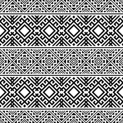 Foto auf AluDibond Boho-Stil Tribal ethnic vector texture. Seamless striped pattern in Aztec style