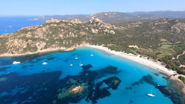 La plage de Roccapina en Corse