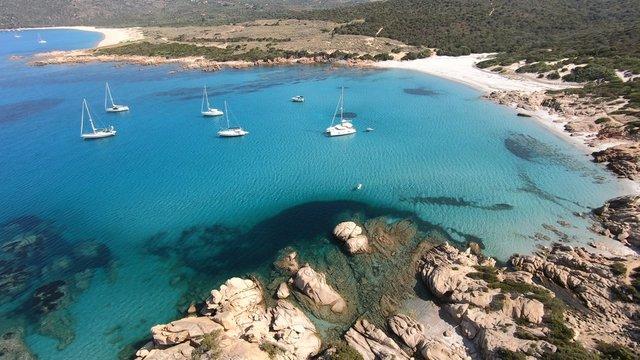 La plage d'Argent, Tizzano en Corse