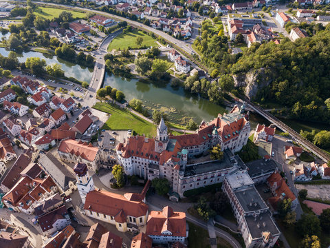 Aerial view of the castle Sigmaringen. Germany in the summer