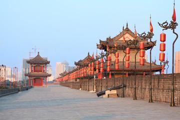 Printed roller blinds Xian Xi'an city wall, China