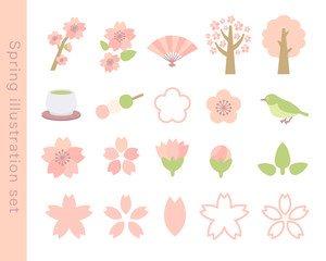 春のイラストセット