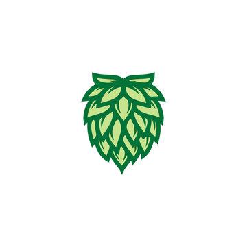 Hops flower for Beer Brewery logo design