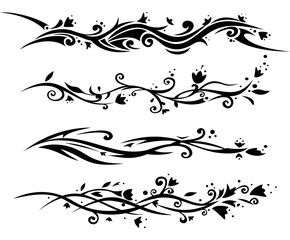 Floral tatoo for women.