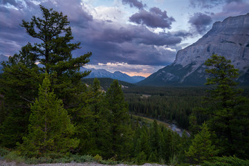 Wall Mural - Landscape close to Banff during sunset, Alberta, Canada