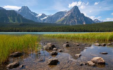 Wall Mural - Waterfowl Lake, Icefield Parkway, Banff National Park, Alberta, Canada