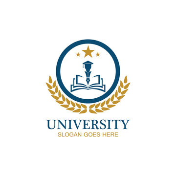 University, Academy, School and Course logo design template