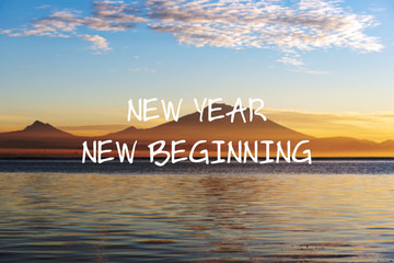 Photo sur Aluminium Positive Typography Motivational and inspirational quotes - New Year New Beginning