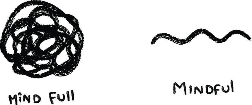 mindfulness meditation concept hand drawn illustration