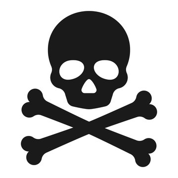 Roger symbol. Pirate scull icon. Vector illustration.