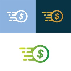 Obraz fast coin logo icon vector design template - fototapety do salonu