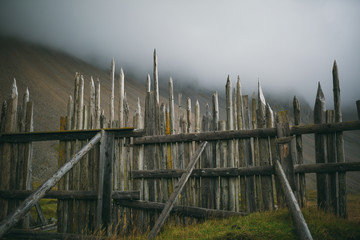 Old fence in Iceland