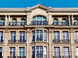 facade of building bruxelles belgium
