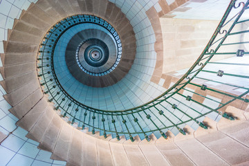 Papiers peints Spirale High lighthouse stairs, vierge island, brittany,france