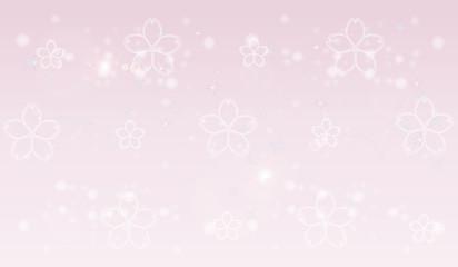 桜の花のピンク背景素材