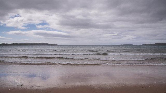 A rough coastline in the north of Scotland