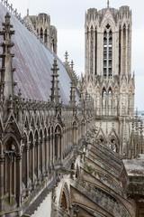 Fototapeta francia, reims, cattedrale, panorama,  obraz
