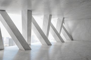 Foto auf Leinwand Dunkelgrau Contemporary concrete interior
