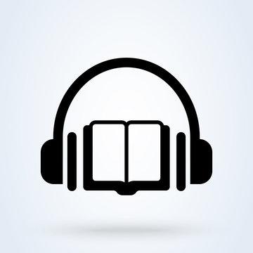 audio book icon modern design illustration