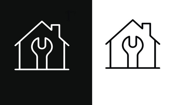 Home Repair and CONSTRUCTION LINE ICON
