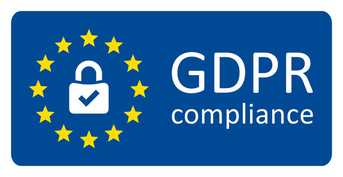 plaque button GDPR Europe