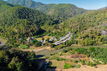 Ban Huay Pu Keng, Long Neck Village in Mae Hong Son Province in Thailand