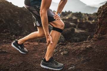 Runner using Knee support bandage but have a problem with calf muscle on running. Leg injury.