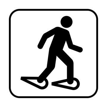 Snowshoeing symbol icon