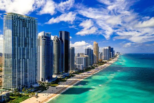 North Miami Beach Sunny Isles Beach Aerial Photo