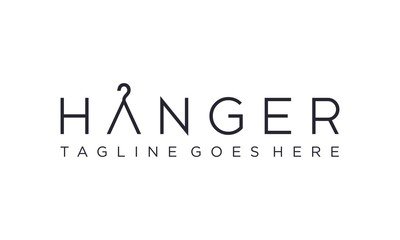 Hanger logo design vector editable