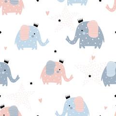 Modèle mignon avec des éléphants.