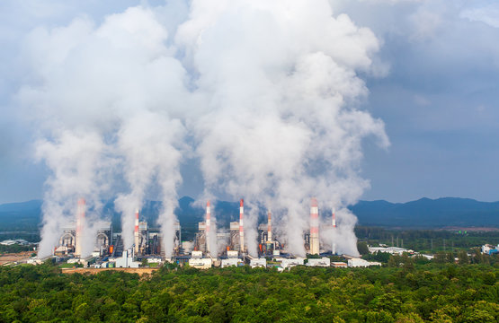 coal power plant in Lampang, Thailand.