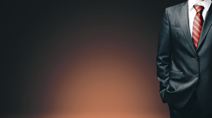 Businessman in black suit Fotobehang