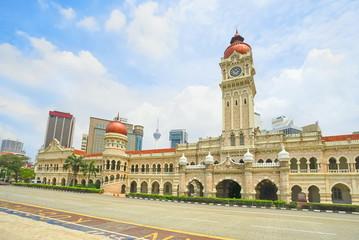 Photo Stands Kuala Lumpur Sultan Abdul Samad building in Kuala Lumpur, Malaysia.